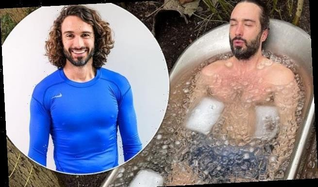 Joe Wicks takes the plunge and lies in an ice bath in recent snap