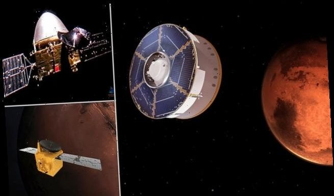 Next stop Mars: Three spacecraft arriving at Red Planet tomorrow