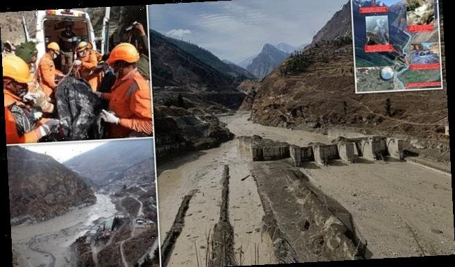 Indian glacier flood disaster: Death toll of could reach nearly 200