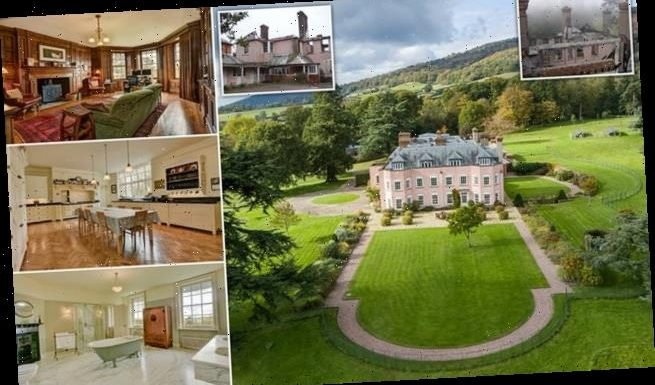 Stunning country manor destroyed by fire goes on sale for almost £4m