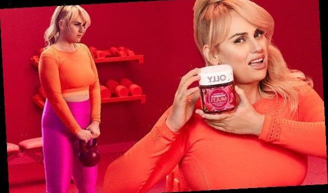 Rebel Wilson puts her weight loss on display in pink lycra leggings