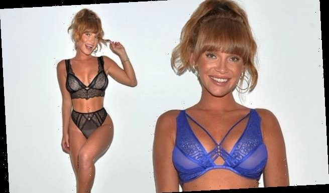 Summer Monteys-Fullam flaunts her figure in sexy lace lingerie