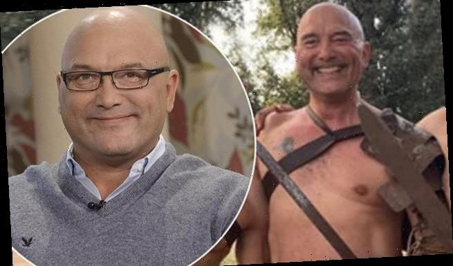 Gregg Wallace flashes abs in topless snap as he dresses as a gladiator