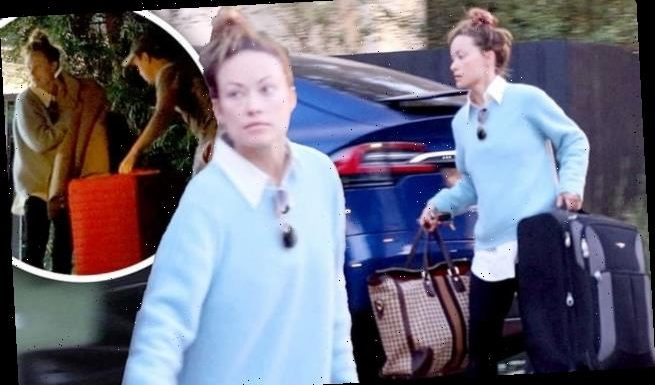 Olivia Wilde officially moves her belongings out