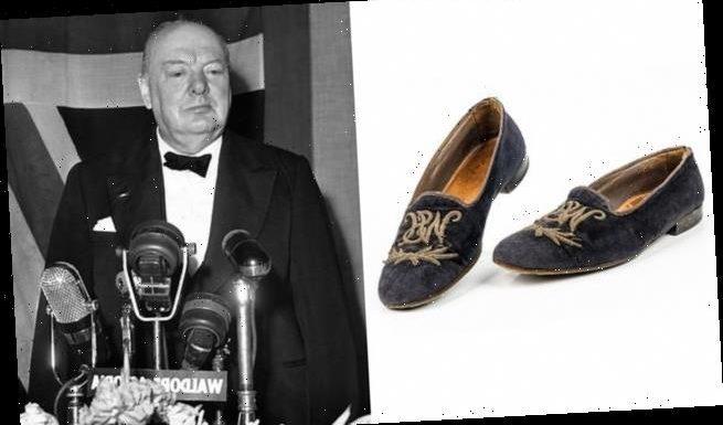 Churchill's velvet slippers expected to sell for £15,000 at auction