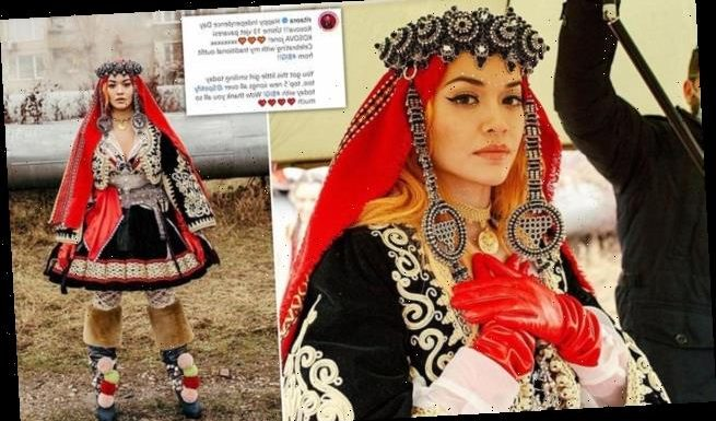 Rita Ora dons traditional dress to celebrate Kosovo Independence Day
