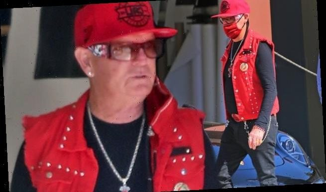 Katy Perry's preacher father Keith flashes a massive cross necklace