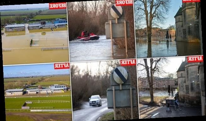 Before-and-after pics reveal how flooding swamped the UK last month