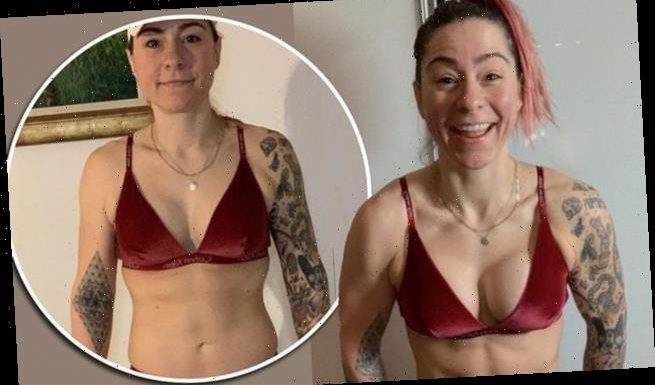 Lucy Spraggan displays her VERY toned physique in lingerie