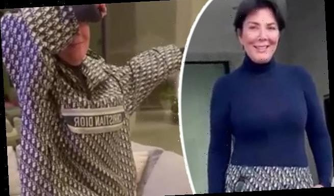 Kris Jenner steps out in Christian Dior outfit.. as Kim pokes fun