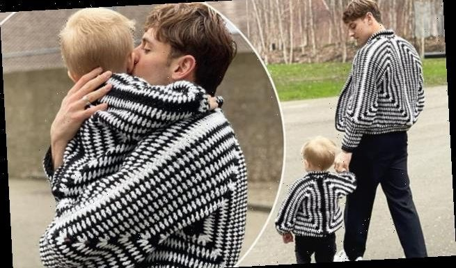 Tom Daley crochets matching cardigans for him and his toddler son