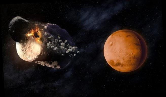 Phobos and Deimos are the remnants of a much larger Martian moon