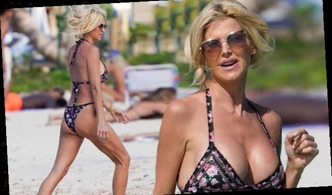 Victoria Silvstedt wears floral bikini as she returns to St. Barts