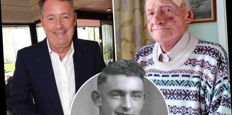 Piers Morgan helps raise £21k for war hero, 100, burgled by thugs and hands over a grand of his own cash