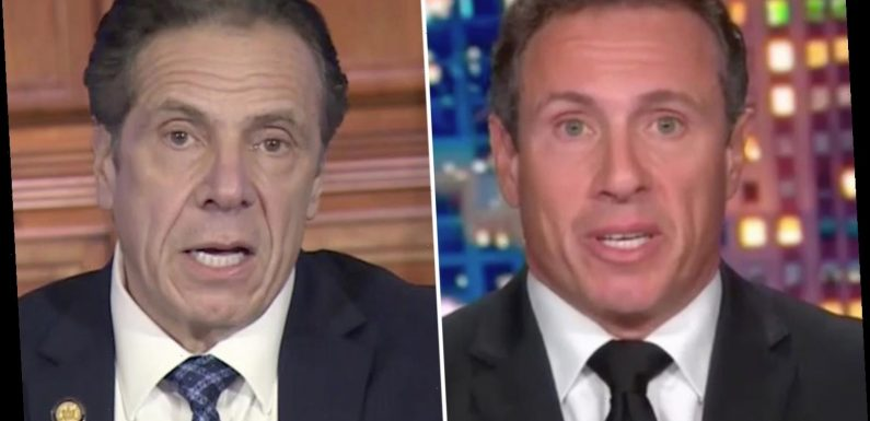 CNN's Chris Cuomo slammed for refusing to cover brother's nursing home Covid scandal as NY Gov is branded a 'liar'