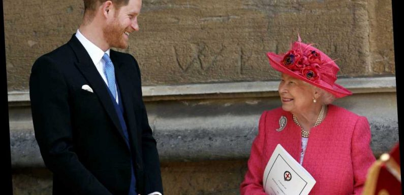 """The Queen 'told Prince Harry she was delighted he and Meghan had """"found happiness""""'"""