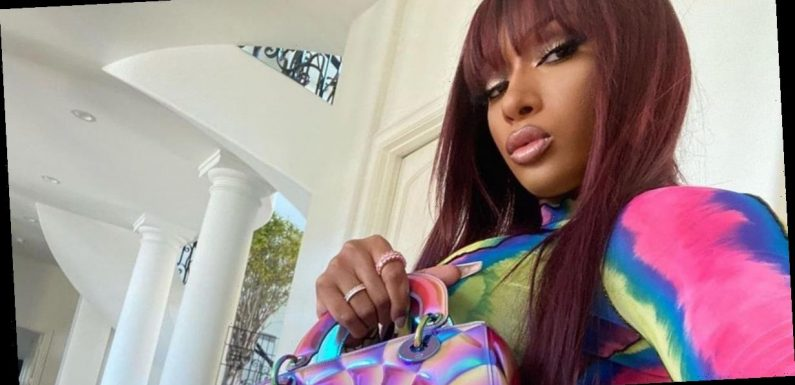 Megan Thee Stallion's Groovy Dior Bag Has a Secret Message Written on the Bottom