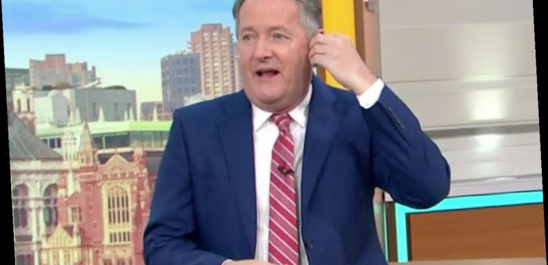 Piers Morgan fumes over 'unprofessional' Good Morning Britain staff – before admitting he forgot to wear earpiece