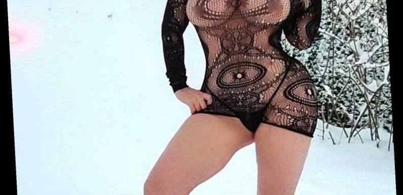 Coco Austin Wears a See-Through Mini Dress and Thong While Posing in 18 Inches of Snow