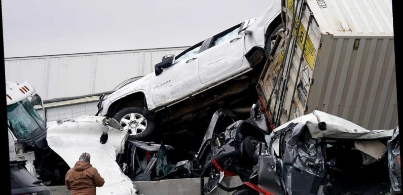 Nurse crawls out of massive Texas pile-up, goes to work