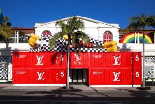 Spring Looks and $100K Shipping Containers at Louis Vuitton Men's Pop-up