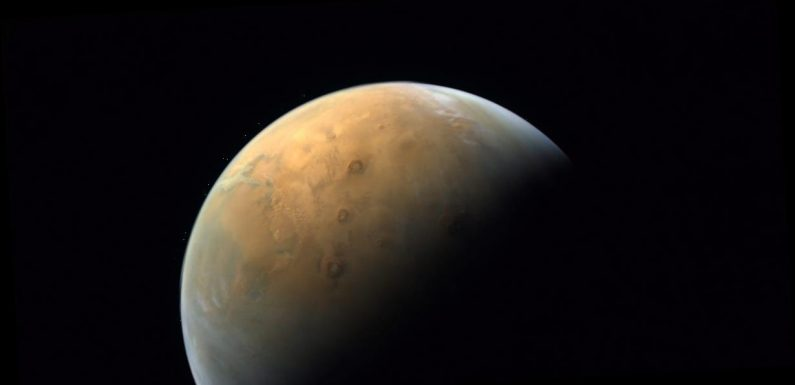 The United Arab Emirates has released its first Mars photo, taken by the Hope Probe. It comes as NASA's rover approaches its descent on the red planet.