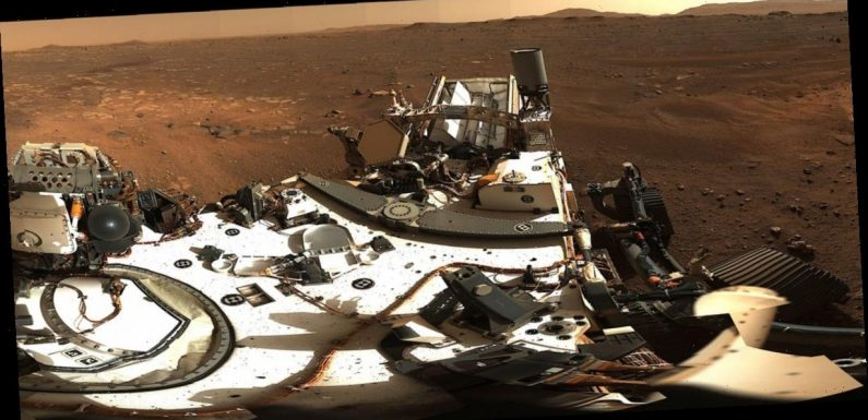 NASA just unveiled a high-def, 360-degree panorama of Mars from the Perseverance rover. It's made from 142 photos.