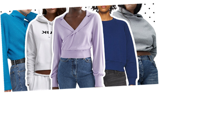 11 cropped jumpers, sweatshirts and hoodies to suit everyone