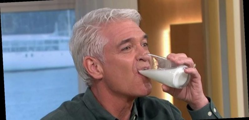 This Morning viewers sickened as Phillip Schofield drinks horse milk live on air