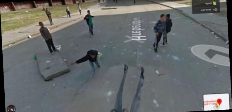 Google Maps Street View glitch shows boy 'steamrolled' in apparent 'accident'
