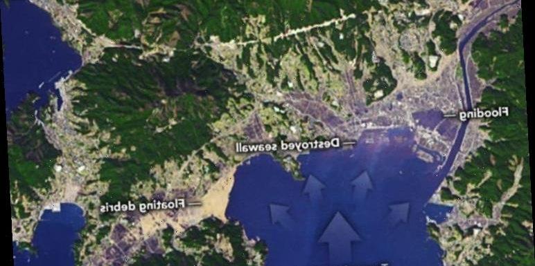 Japan tsunami: Heartbreaking NASA pics reveal scale of destruction on 10th anniversary