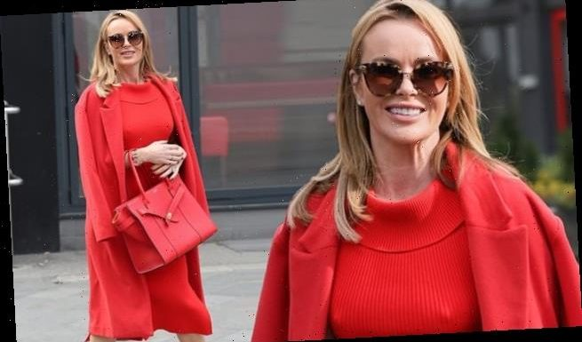Amanda Holden nails daytime glamour in red as she leaves Heart FM