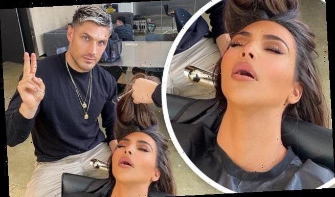 Kim Kardashian's stylist trolls her for falling asleep at the salon