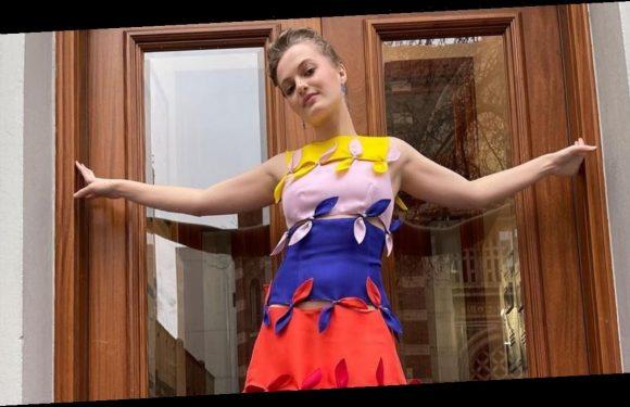 The Prom's Jo Ellen Pellman Stands For Inclusivity in Her Rainbow Golden Globes Dress