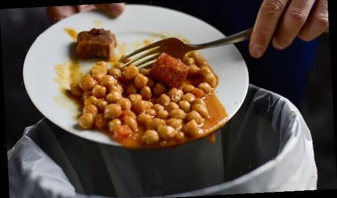 The average household bins 163lbs of food waste per year, study warns