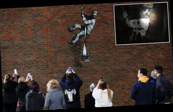 Banksy posts video confirming he painted mural on Reading Jail