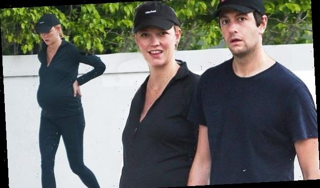 Karlie Kloss flashes baby bump in Miami with husband Joshua Kushner