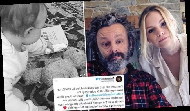 Michael Sheen, Anna Lundberg and baby Lyra have been battling Covid