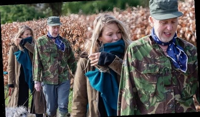 Kate Moss nails countryside chic for a walk with with pal James Brown