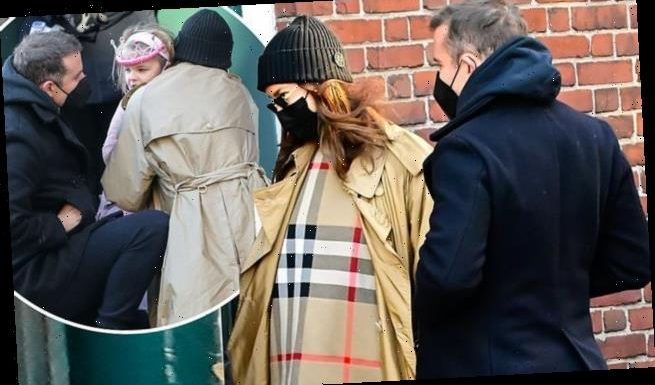 Bradley Cooper & Irina Shayk take daughter Lea to school in pink tutu