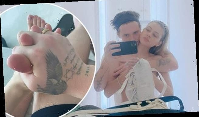 Brooklyn Beckham grasps fiancée Nicola Peltz's TOES in intimate snap