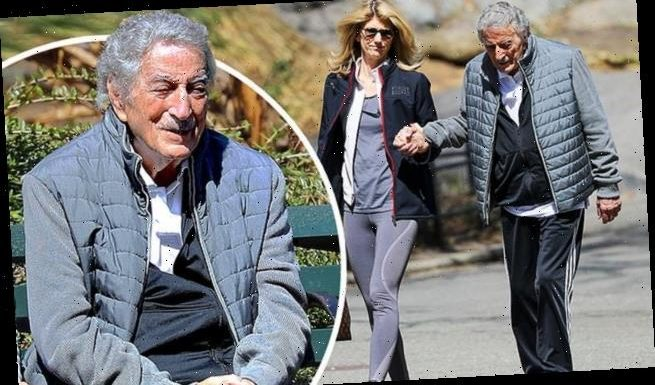 EXCLUSIVE: Tony Bennett is pictured with wife Susan Crow in NYC