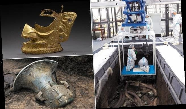 More than 500 relics discovered in 'sacrificial' pits in China