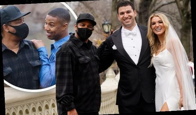 Denzel Washington photobombs a wedding photoshoot!