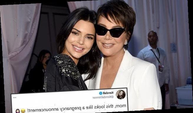 Kendall Jenner SHUTS DOWN pregnancy rumors following mom Kris' tweet