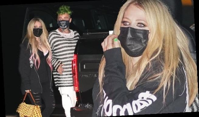 Avril Lavigne heads for dinner with beau Mod Sun at Nobu in Malibu
