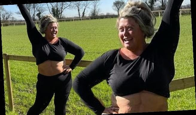 Gemma Collins reveals her flat stomach in a crop top on a 10 MILE walk