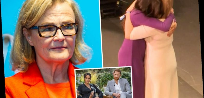 Charity boss who did awkward Meghan Markle curtsy has to delete tweet saying she should air grievances 'privately'