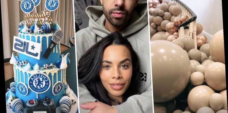 Inside Marvin Humes' lockdown birthday party thrown by wife Rochelle with JLS cake and balloon display on the stairs