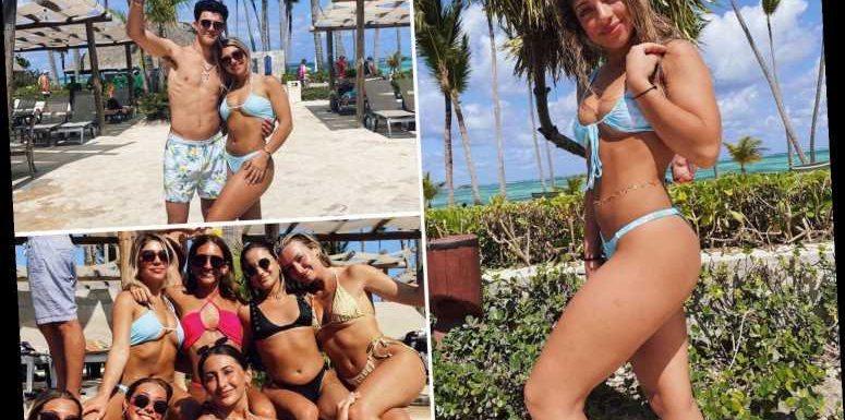 RHONJ star Teresa Giudice's daughter Gia, 20, shows off curves in blue bikini on Caribbean getaway with boyfriend & pals